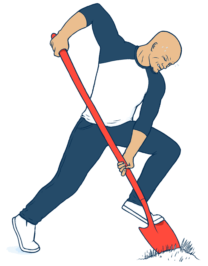 an illustration of me digging with a shovel